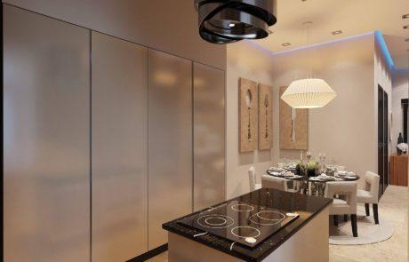 дизайн интерьера скрытая кухня