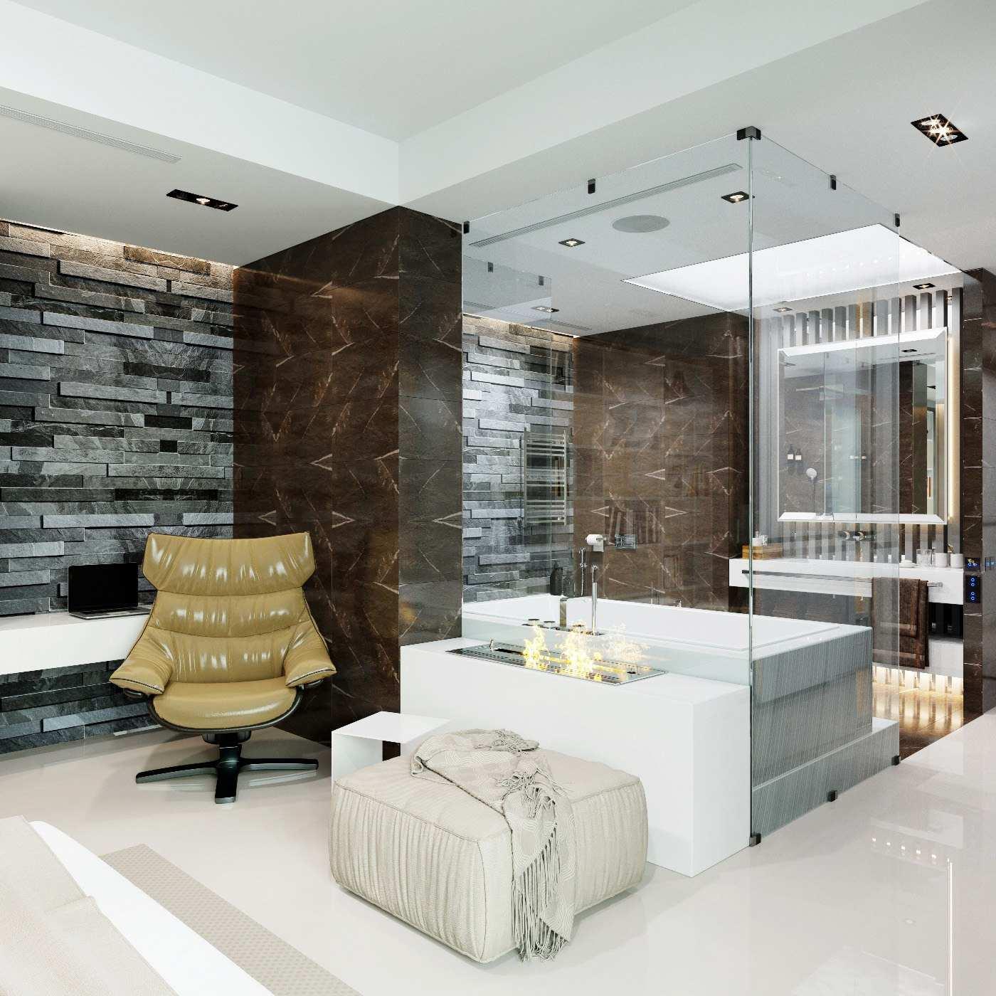 Дизайн интерьера в современном сителе биокамин