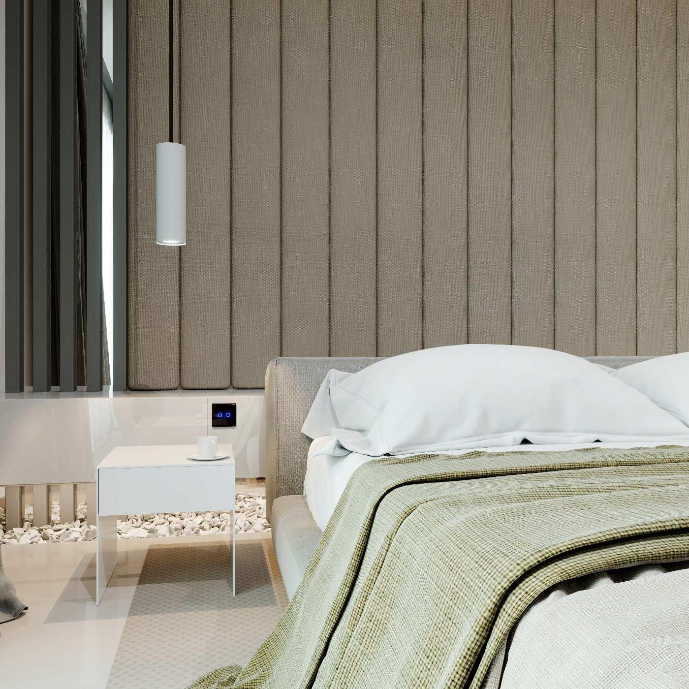 Дизайн интерьера в современном сителе Главная спальня